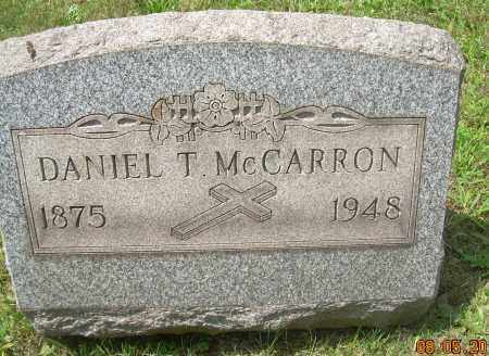 MCCARRON, DANIEL T - Columbiana County, Ohio | DANIEL T MCCARRON - Ohio Gravestone Photos