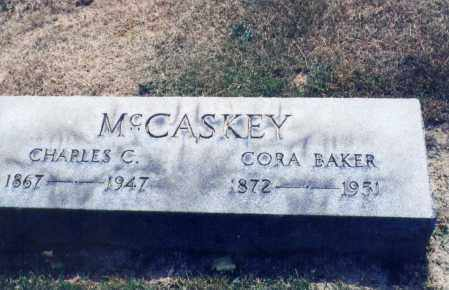 BAKER MCCASKEY, CORA - Columbiana County, Ohio | CORA BAKER MCCASKEY - Ohio Gravestone Photos
