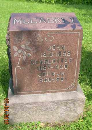 MCCASKEY, CHARLOTTE - Columbiana County, Ohio | CHARLOTTE MCCASKEY - Ohio Gravestone Photos