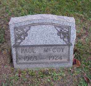 MCCOY, PAUL - Columbiana County, Ohio | PAUL MCCOY - Ohio Gravestone Photos