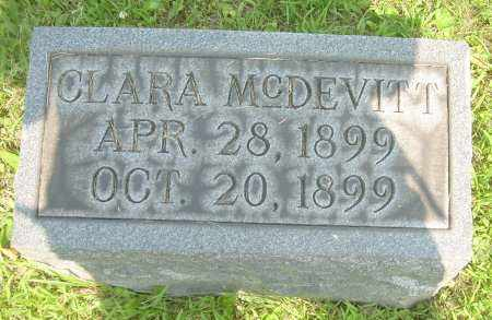 MCDEVITT, CLARA - Columbiana County, Ohio | CLARA MCDEVITT - Ohio Gravestone Photos