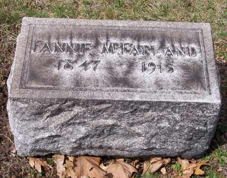 MCFARLAND, FANNIE - Columbiana County, Ohio | FANNIE MCFARLAND - Ohio Gravestone Photos