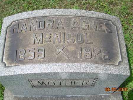 CRONIN MCNICOL, HANORA AGNES - Columbiana County, Ohio | HANORA AGNES CRONIN MCNICOL - Ohio Gravestone Photos