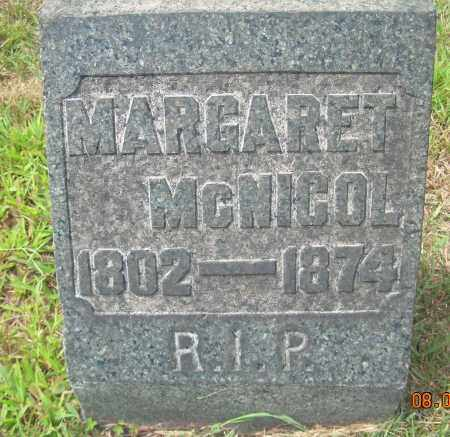 MCNICOL, MARGARET - Columbiana County, Ohio | MARGARET MCNICOL - Ohio Gravestone Photos