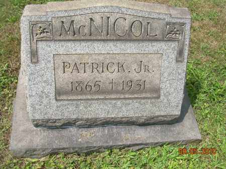 MCNICOL, PATRICK, JR - Columbiana County, Ohio | PATRICK, JR MCNICOL - Ohio Gravestone Photos