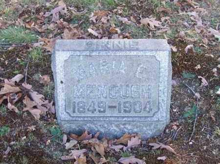 MENOUGH, MARIA E. - Columbiana County, Ohio | MARIA E. MENOUGH - Ohio Gravestone Photos