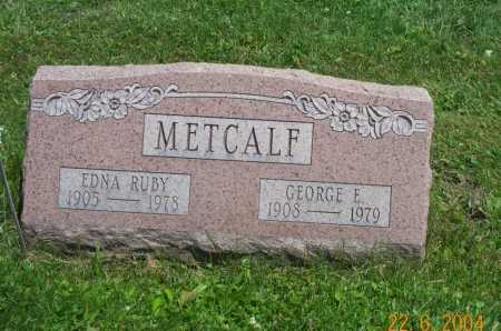 METCALF, GEORGE - Columbiana County, Ohio | GEORGE METCALF - Ohio Gravestone Photos
