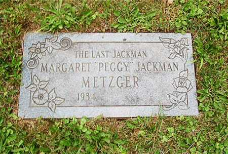 JACKMAN METZGER, MARGARET - Columbiana County, Ohio | MARGARET JACKMAN METZGER - Ohio Gravestone Photos