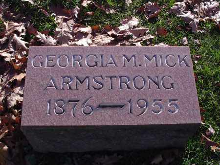 ARMSTRONG MICK, GEORGIA M - Columbiana County, Ohio | GEORGIA M ARMSTRONG MICK - Ohio Gravestone Photos