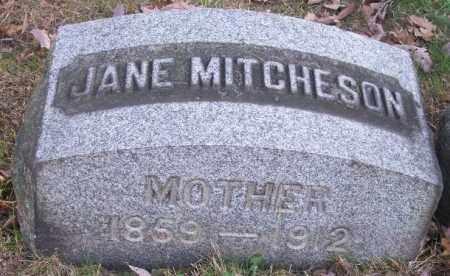 MITCHESON, JANE - Columbiana County, Ohio | JANE MITCHESON - Ohio Gravestone Photos
