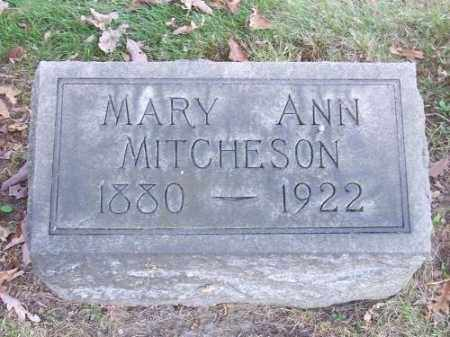 MITCHESON, MARY ANN - Columbiana County, Ohio | MARY ANN MITCHESON - Ohio Gravestone Photos