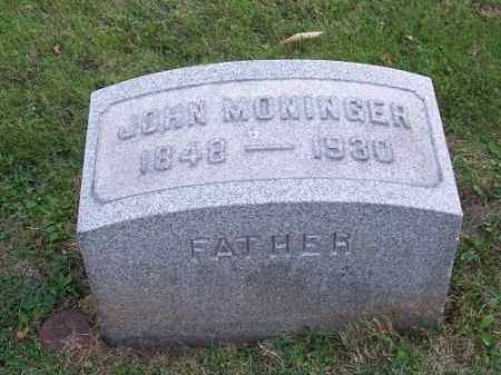 MONINGER, JOHN - Columbiana County, Ohio | JOHN MONINGER - Ohio Gravestone Photos