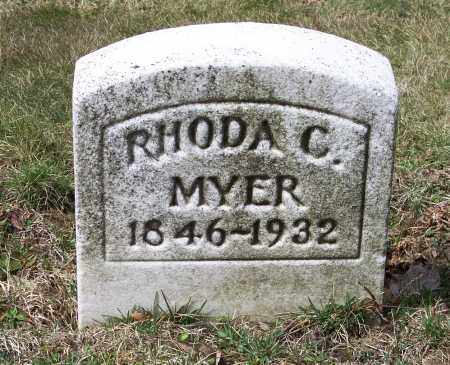 MYER, RHODA C. - Columbiana County, Ohio | RHODA C. MYER - Ohio Gravestone Photos