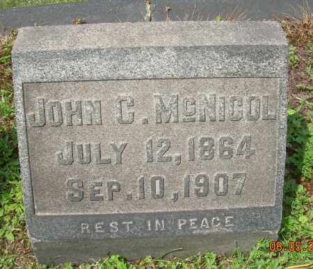 NCNICOL, JOHN C - Columbiana County, Ohio | JOHN C NCNICOL - Ohio Gravestone Photos