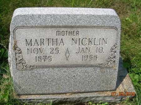 GOODWIN NICKLIN, MARTHA - Columbiana County, Ohio | MARTHA GOODWIN NICKLIN - Ohio Gravestone Photos