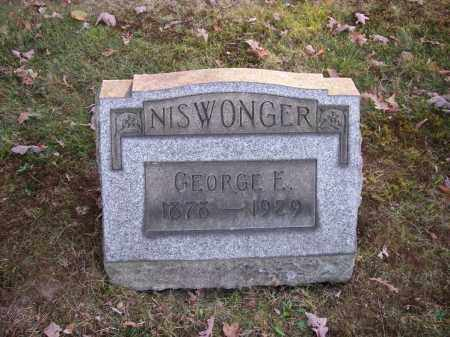 NISWONGER, GEORGE E. - Columbiana County, Ohio | GEORGE E. NISWONGER - Ohio Gravestone Photos