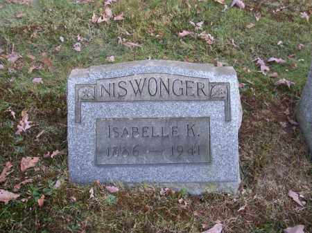 NISWONGER, ISABELLE K. - Columbiana County, Ohio | ISABELLE K. NISWONGER - Ohio Gravestone Photos