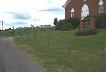 OAK RIDGE, CHURCH AND CEMETERY VIEW - Columbiana County, Ohio | CHURCH AND CEMETERY VIEW OAK RIDGE - Ohio Gravestone Photos
