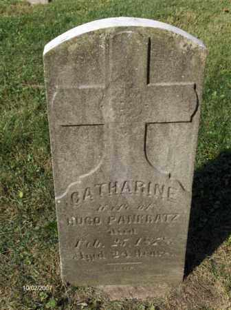 PANKRATZ, CATHERINE - Columbiana County, Ohio | CATHERINE PANKRATZ - Ohio Gravestone Photos