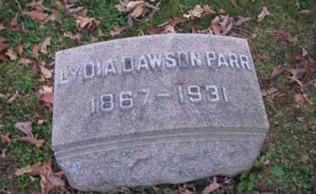 DAWSON PARR, LYDIA - Columbiana County, Ohio | LYDIA DAWSON PARR - Ohio Gravestone Photos