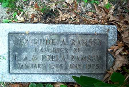 RAMSEY, GERTRUDE A. - Columbiana County, Ohio | GERTRUDE A. RAMSEY - Ohio Gravestone Photos