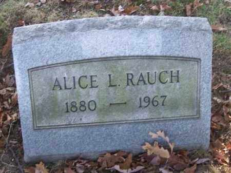 RAUCH, ALICE L. - Columbiana County, Ohio | ALICE L. RAUCH - Ohio Gravestone Photos