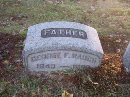 RAUCH, GEORGE F. - Columbiana County, Ohio | GEORGE F. RAUCH - Ohio Gravestone Photos