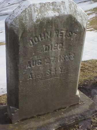 REIST, JOHN - Columbiana County, Ohio | JOHN REIST - Ohio Gravestone Photos