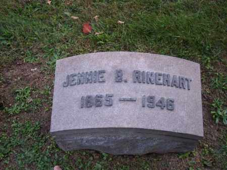RINEHART, JENNIE B. - Columbiana County, Ohio | JENNIE B. RINEHART - Ohio Gravestone Photos