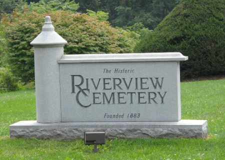 RIVERVIEW CEMETERY, ENTRANCE SIGN - Columbiana County, Ohio | ENTRANCE SIGN RIVERVIEW CEMETERY - Ohio Gravestone Photos