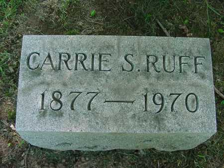 RUFF, CARRIE - Columbiana County, Ohio | CARRIE RUFF - Ohio Gravestone Photos