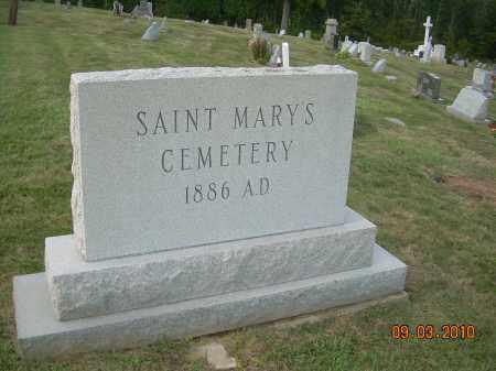 SAINT MARY'S CEMETERY, SIGN - Columbiana County, Ohio   SIGN SAINT MARY'S CEMETERY - Ohio Gravestone Photos