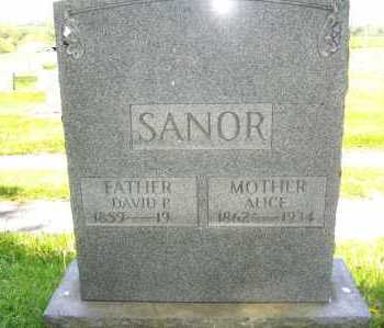 MESSIMORE SANOR, ALICE - Columbiana County, Ohio | ALICE MESSIMORE SANOR - Ohio Gravestone Photos