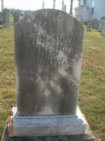 SHAW, JOHN - Columbiana County, Ohio | JOHN SHAW - Ohio Gravestone Photos