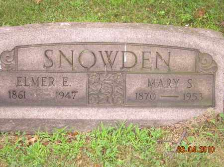 SNOWDEN, ELMER E - Columbiana County, Ohio | ELMER E SNOWDEN - Ohio Gravestone Photos