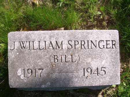 SPRINGER, J WILLIAM (BILL) - Columbiana County, Ohio | J WILLIAM (BILL) SPRINGER - Ohio Gravestone Photos