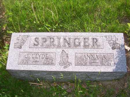 SPRINGER, ANNA A - Columbiana County, Ohio | ANNA A SPRINGER - Ohio Gravestone Photos