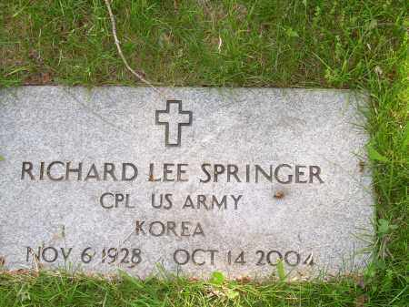 SPRINGER, RICHARD LEE - Columbiana County, Ohio | RICHARD LEE SPRINGER - Ohio Gravestone Photos