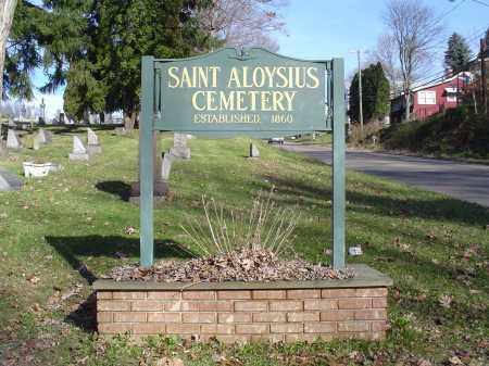 ST ALOYSIUS, SIGN - Columbiana County, Ohio | SIGN ST ALOYSIUS - Ohio Gravestone Photos