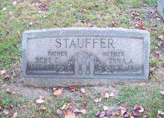 STAUFFER, ZONA A. - Columbiana County, Ohio | ZONA A. STAUFFER - Ohio Gravestone Photos