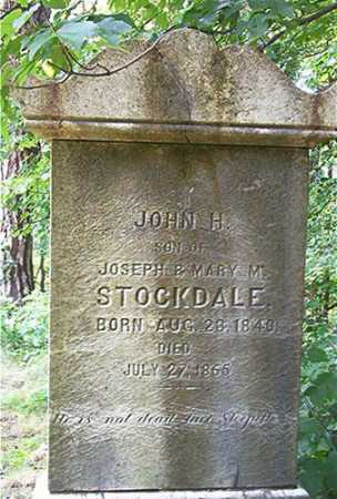 STOCKDALE, JOHN H. - Columbiana County, Ohio | JOHN H. STOCKDALE - Ohio Gravestone Photos