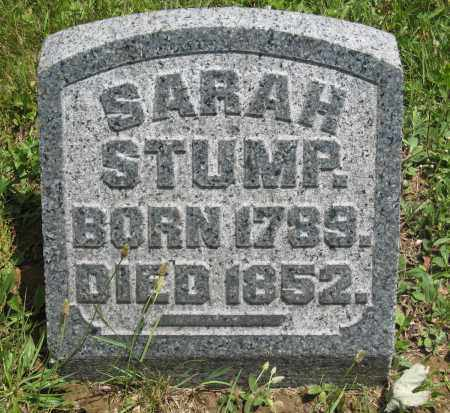 STUMP, SARAH - Columbiana County, Ohio | SARAH STUMP - Ohio Gravestone Photos