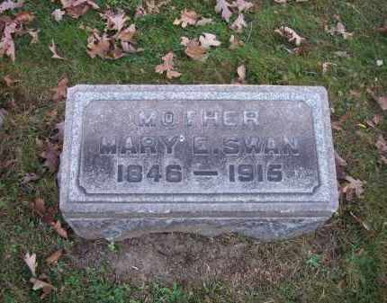 SWAN, MARY E. - Columbiana County, Ohio | MARY E. SWAN - Ohio Gravestone Photos