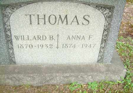 THOMAS, ANNA F - Columbiana County, Ohio | ANNA F THOMAS - Ohio Gravestone Photos