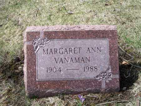 VANAMAN, MARGARET ANN - Columbiana County, Ohio | MARGARET ANN VANAMAN - Ohio Gravestone Photos
