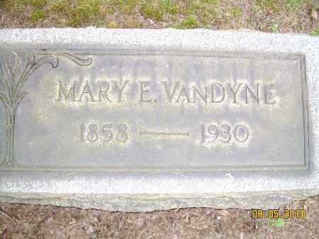 DUGAN VANDYNE, MARY E - Columbiana County, Ohio | MARY E DUGAN VANDYNE - Ohio Gravestone Photos