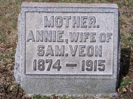 VEON, ANNIE - Columbiana County, Ohio | ANNIE VEON - Ohio Gravestone Photos