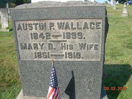 WALLACE, AUSTIN P - Columbiana County, Ohio | AUSTIN P WALLACE - Ohio Gravestone Photos