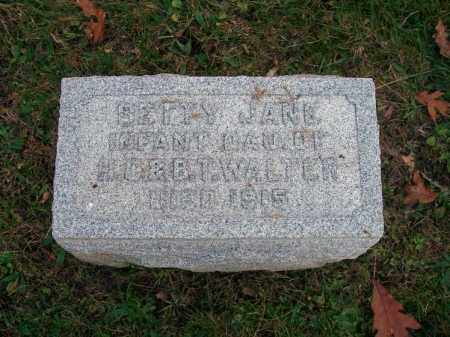WALTER, BETTY JANE - Columbiana County, Ohio | BETTY JANE WALTER - Ohio Gravestone Photos