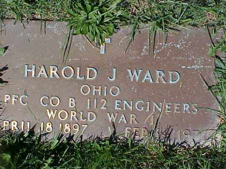 WARD, HOWARD J - Columbiana County, Ohio | HOWARD J WARD - Ohio Gravestone Photos